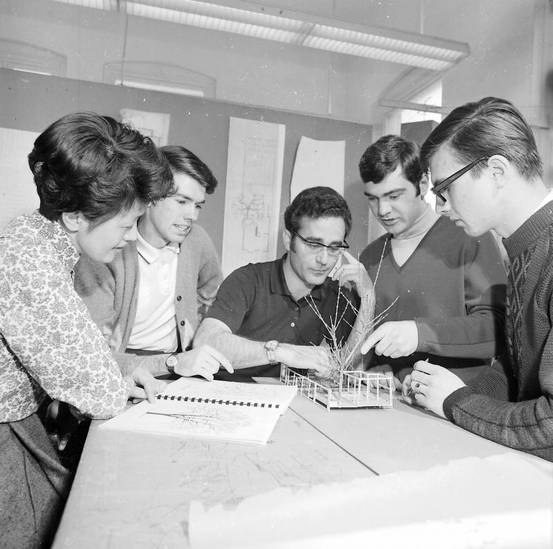 Architecture students, 1969; U of T Archives