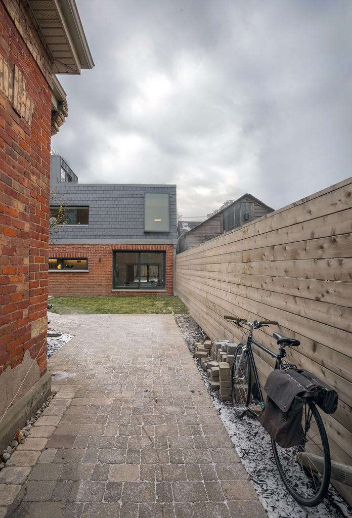 A laneway house recently readapted from a carriage house.
