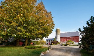 Exterior driveway and barn of Cambium Farms