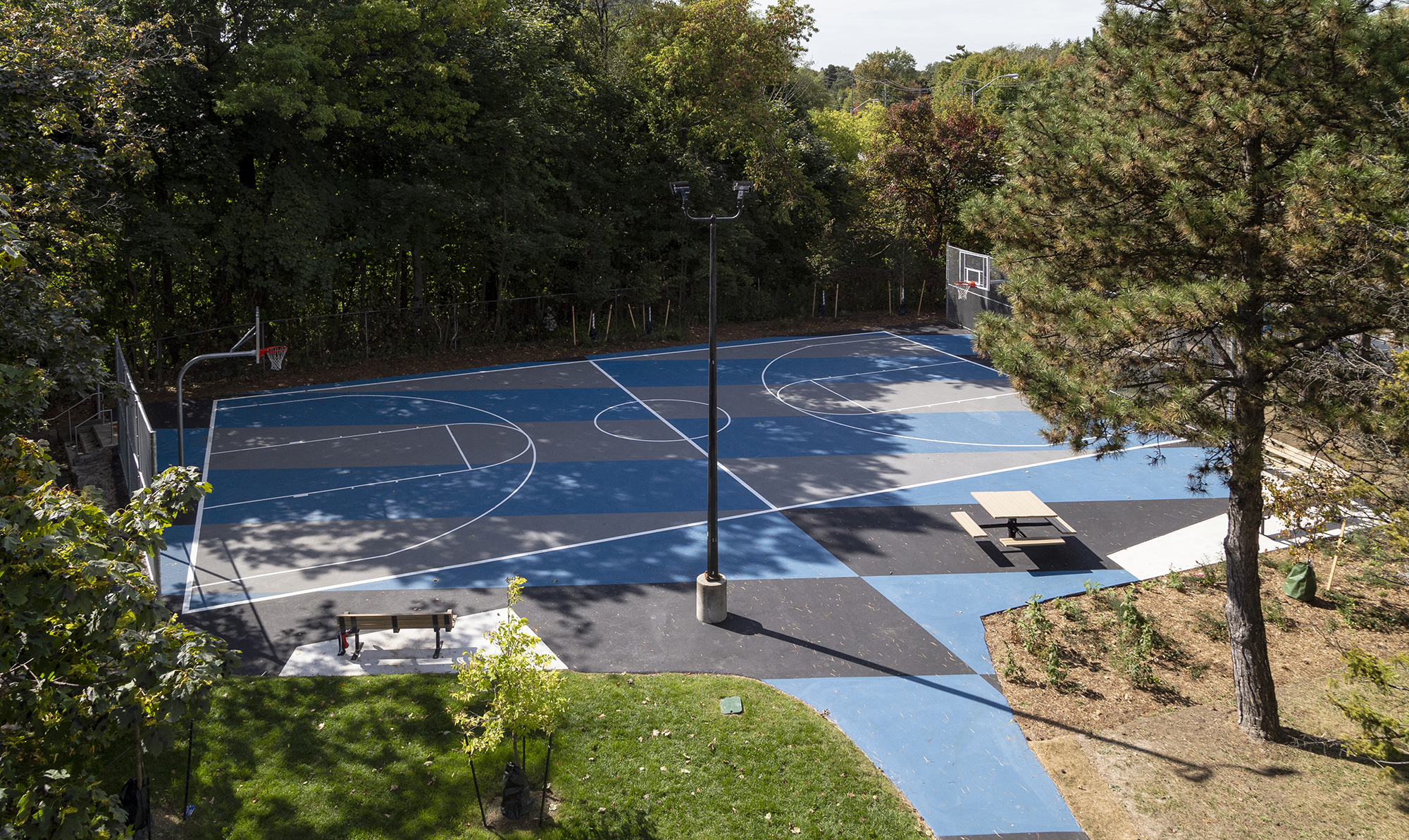 The basketball court at Lawrence-Orton