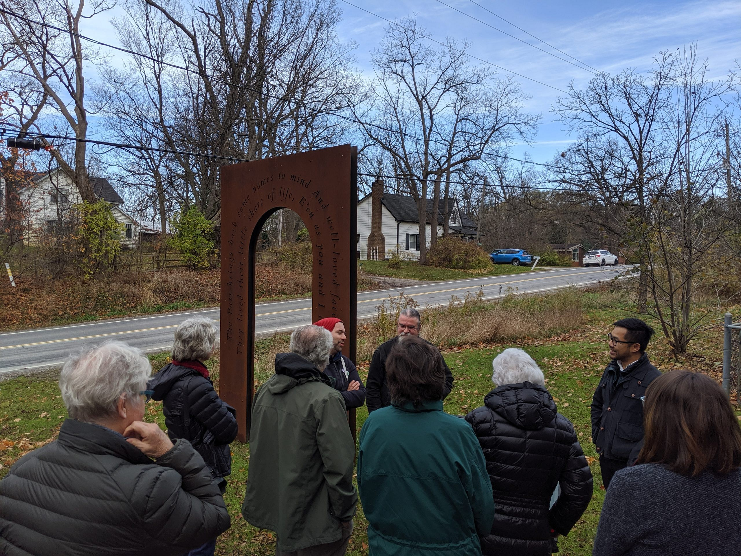 Residents and Small artists gather at the opening of Laskay's Gate