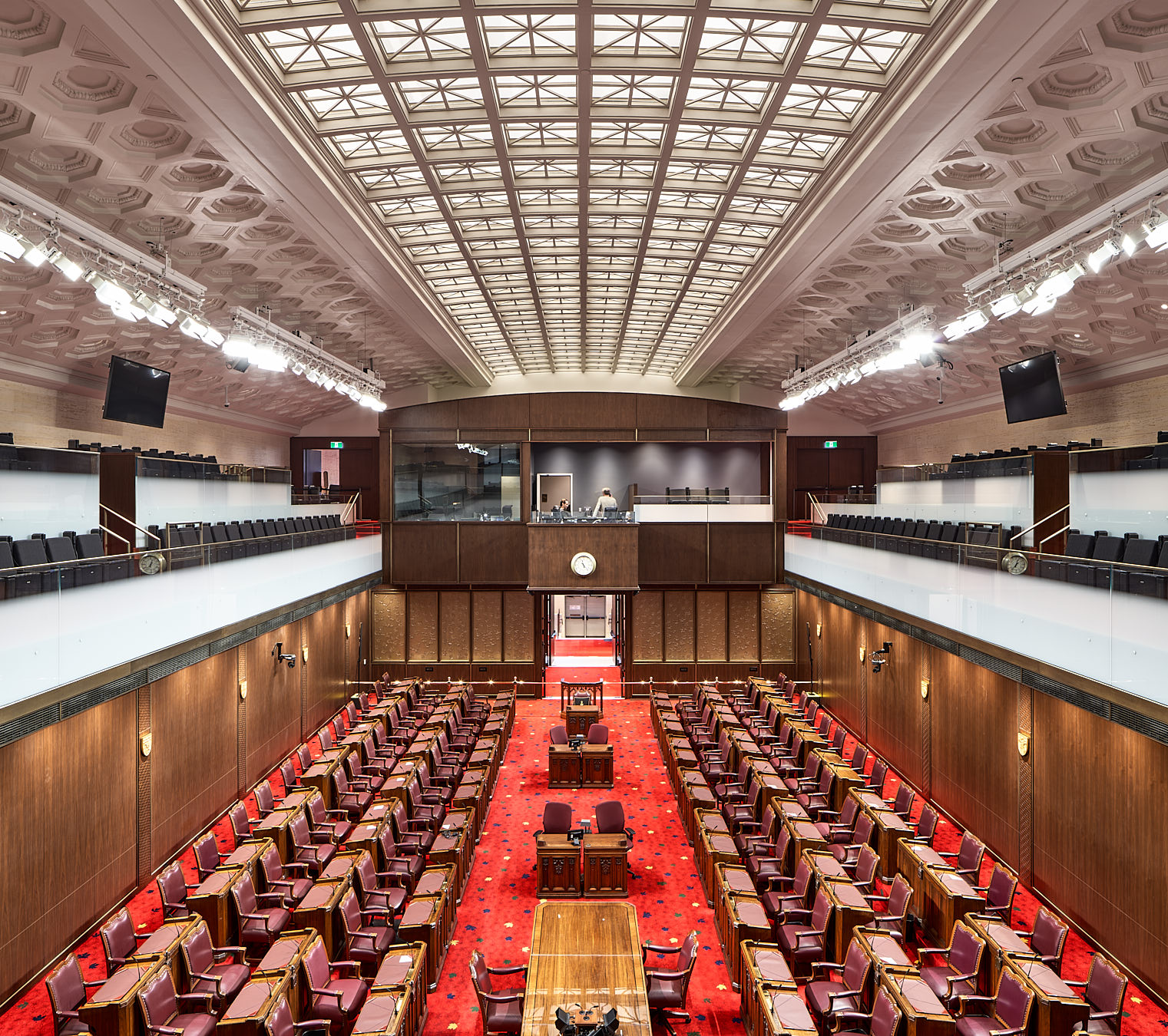 The interior of the Senate of Canada