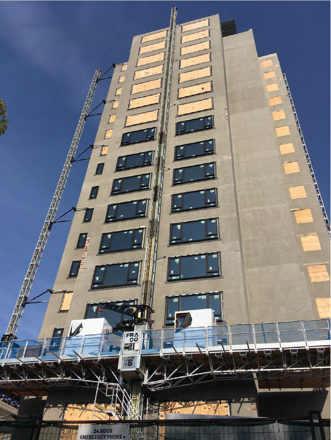 Exterior of the Ken Soble Tower in Hamilton