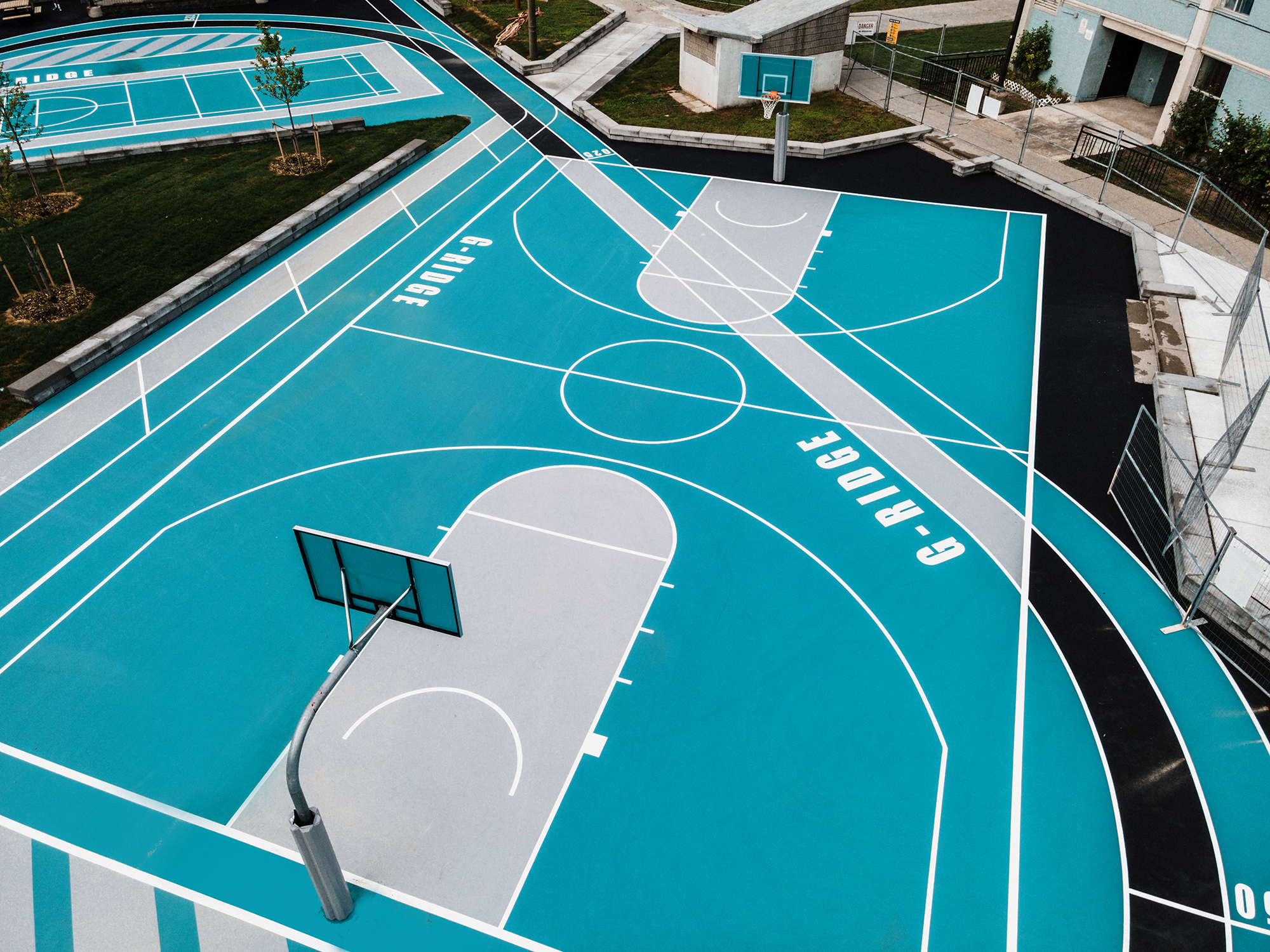 Drone view of the Gordonridge basketball court