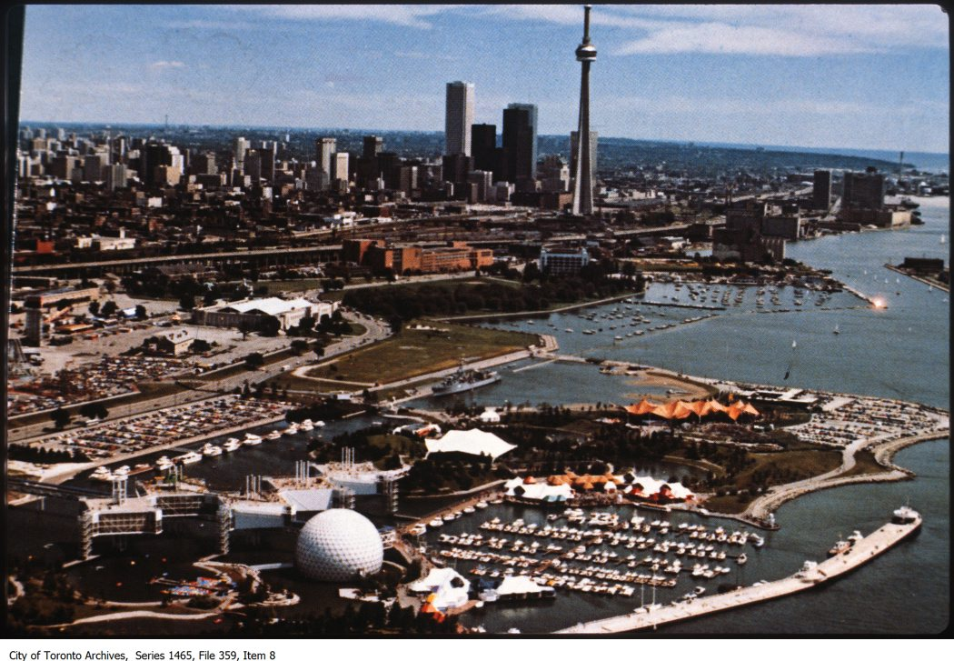 Aerial views of Fort York, Exhibition Place and Ontario Place (City of Toronto Archives)